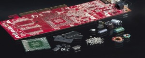 Fraunhofer 2. Dismantled and sorted printed circuit board.