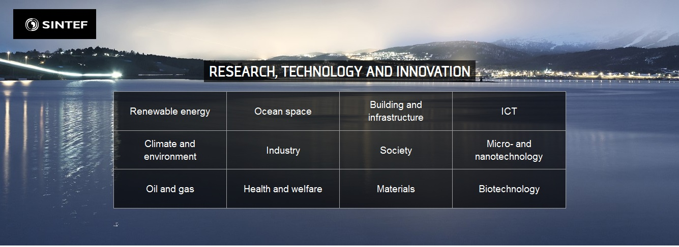 Sintef Research, Tecnology and Innovation
